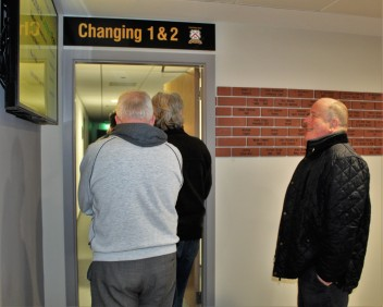 Access to two of the changing rooms